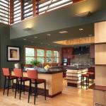 Tủ bếp đẹp tinh tế gỗ Veneer