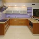 Mẫu sản phẩm tủ bếp nhôm kính giả gỗ đẹp   TBN06