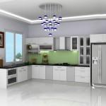 Mẫu sản phẩm tủ bếp nhôm kính đẹp cho gia đình   TBN02